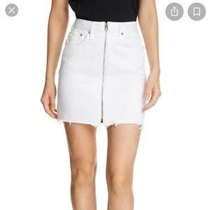 Rag & Bone Anna Denim Mini Skirt, white size 30
